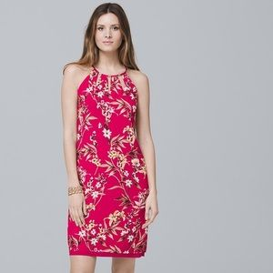 WHBM Reversible woven floral dress